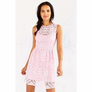 NWT Kimchi Blue Pink Medallion Fit & Flare Dress