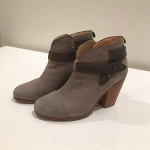 Rag & Bone gray suede Harrow ankle boots size 37