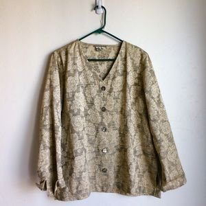 Isabella Bird Floral Embroidered Jacket. Size XL.
