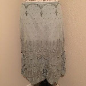 Anthropologie Odille beaded skirt