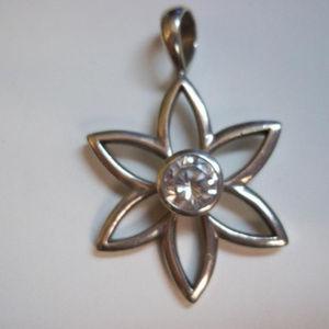 S1195 Silpada Retired Cubic Star Pendant