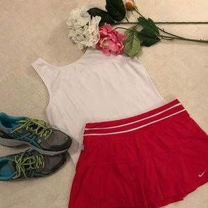 👟Nike Dri-Fit red tennis skirt, size medium