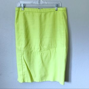 J. Crew yellow pencil skirt