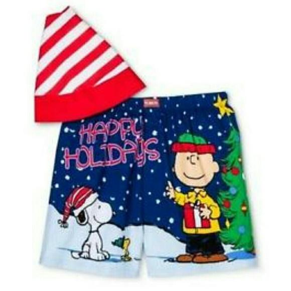 2171467ff18c Peanuts Underwear & Socks | Charlie Brown Snoopy Boxers W Hat | Poshmark
