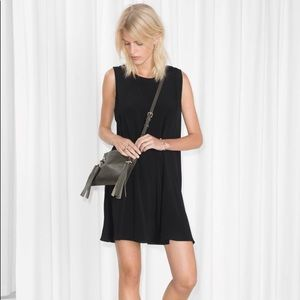 & Other Stories Black Mini Dress