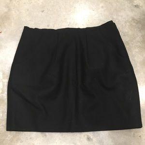 Classic Black Wool Skirt
