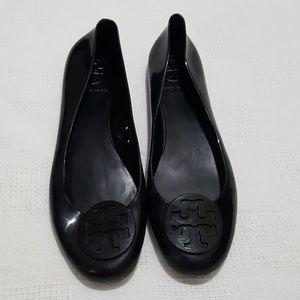 Tory Burch Black Jelly Reva Flats - 7.5 or 38
