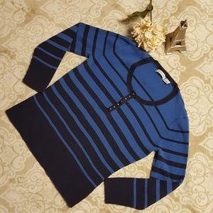 LIZ CLAIBORNE striped sweater