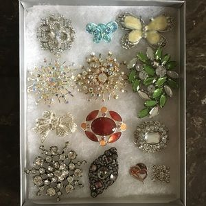 FREE Gem & Crystal Brooch with any purchase!