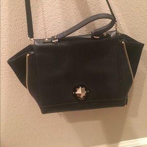 Black gold suede KATE SPADE bag