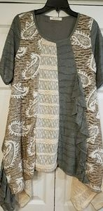 New Handkerchief/Asymmetrical Hem Tunic