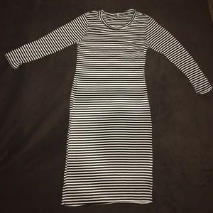 Black and white stripped dress!
