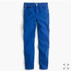 J. Crew lookout high rise skinny jeans in blue