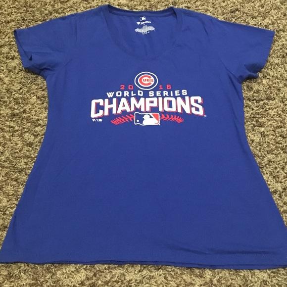 Womens Chicago Cubs World Series T-Shirt a80922feef