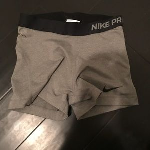 NIKE PRO dri fit running compression shorts womens