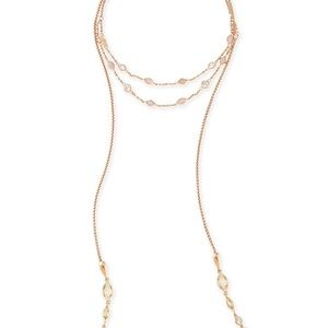 Kendra Scott Emelina Lariat Necklace in Rose Gold