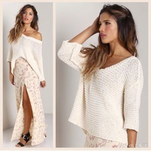Free People Park Slope Pullover Sweater