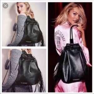Victoria's Secret fringe backpack style bag