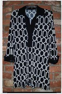 Black & White Dressy Tunic Top
