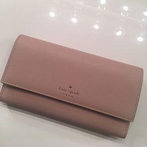 Kate spade blush pink leather wallet