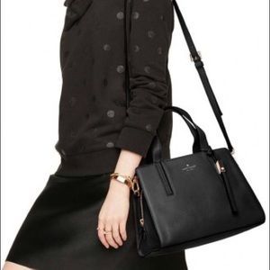 Kate Spade Grey Street Dominique Black Satchel