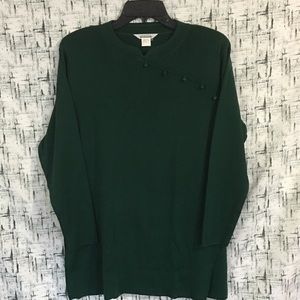 Mistook long sleeve knit top size small / Green