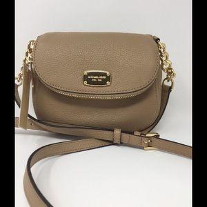 Michael Kors Bedford Crossbody Tan Leather Handbag