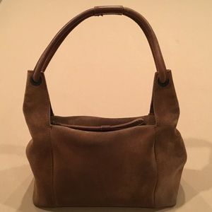 Gucci Brown Suede Hobo Bag