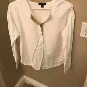 Beautiful crisp white J. Crew blouse