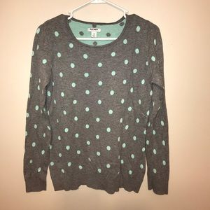 Old Navy polka dot sweater size M