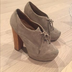 Steve Madden Nude Tie Up Booties Heels