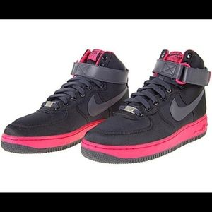 Nike Air Force Ones women's 8.5 Pink & Black shoes