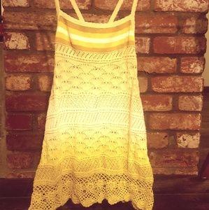 Womans small Free People crochet tank  l