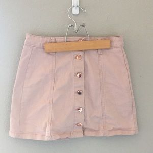 Pink Button Up Skirt Trendy Forever 21
