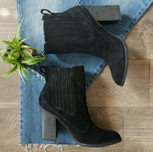 Dolce Vita western suede booties