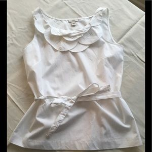 J. Crew Belted Ruffle Top