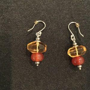 Jewelry - Two Tone Stone Earrings