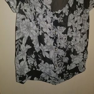 Sheer blouse dress up or down
