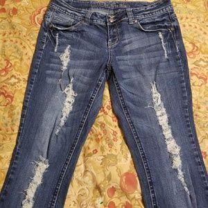 Juniors ZCO jeans denim distressed