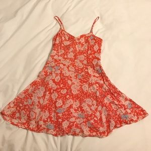 Free People printed mini dress with back detail