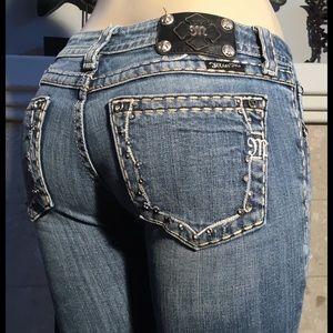 Miss Me Jeans Size 29 Embellished Pockets Straight