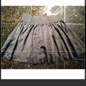 Black Silk Forever 21 Mini Skirt