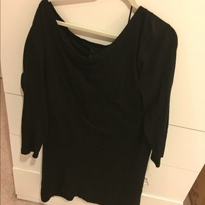 ASOS black cotton dress