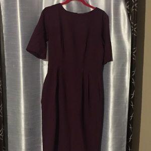 Asos Burgundy Wiggle Dress