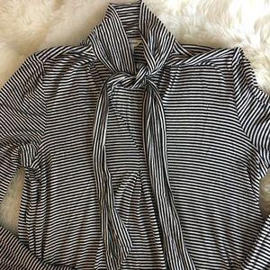 Designer tie-neck tunic