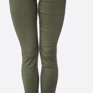5 pocket, olive green plus size skinny pants