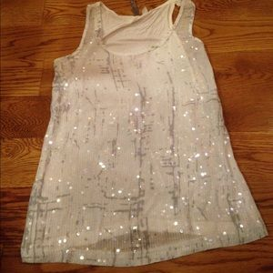 White sequined tank