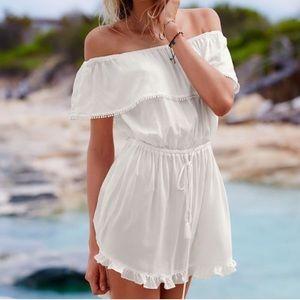Victoria Secret White Off the Shoulder Dress