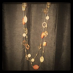 NY&CO Long Beaded Necklace