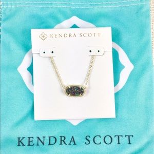Kendra Scott Elisa multi drusy gold necklace